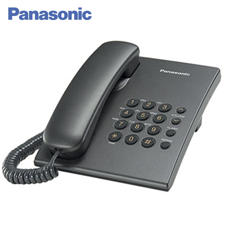Panasonic KX-TS2350RUT Phone Home fixed Desktop Phone Landline for home and offfice use. adjustable plastic holder stand for phone and tablet pc black