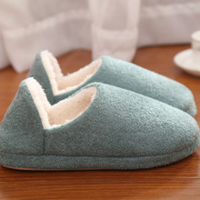 Unisex Cotton Winter Slippers Women Men shoes Fashion Soft Sole Woman Indoor Floor Slippers Antiskid Warm Plush Home Slippers