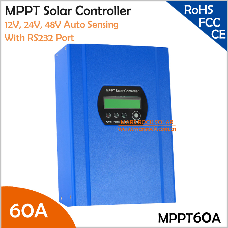 60A 12V/24V/48V MPPT solar charge controller with LCD display and RS232 interface to communicate with computer 60a 12v 24v 48v mppt solar charge controller with lcd display and rs232 interface to communicate with computer