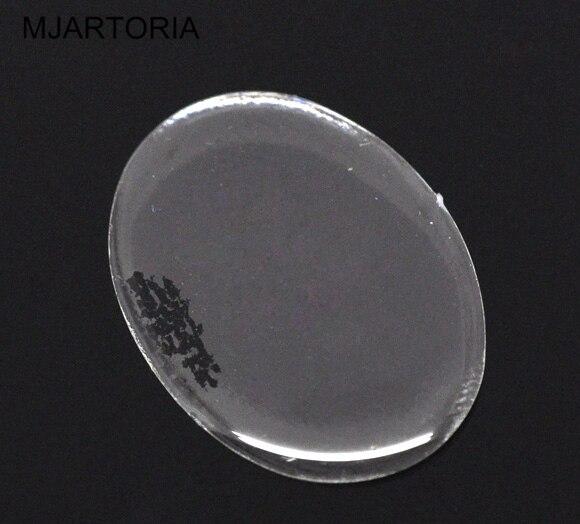 Mjartoria 180pcs epoxy domes resin stickers cabochon 18x25mm clear oval dome cabochon embellishments diy jewelry making