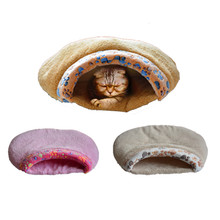 M/L Cute Cat Bed Dog Mat 3 Color Printed Pet Sleeping Bags Winter Warm Sleep Beds Creative Cats Nest Litter 2016 Free Shipping