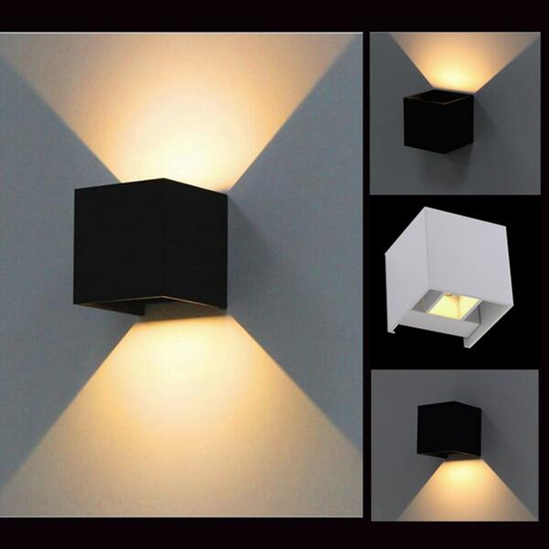 White Dimmable Wall Lights : Aliexpress.com : Buy Dimmable 8W /10W IP65 Adjustable Surface Mounted Outdoor Cube Led Wall Lamp ...