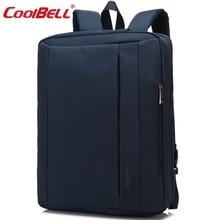 CoolBell Водонепроницаемой Ткани Оксфорд 15.6 17.3 дюймов Ноутбук Сумка Многофункциональный Ноутбук Портфель рюкзак унисекс Для iPad Pro Macbook