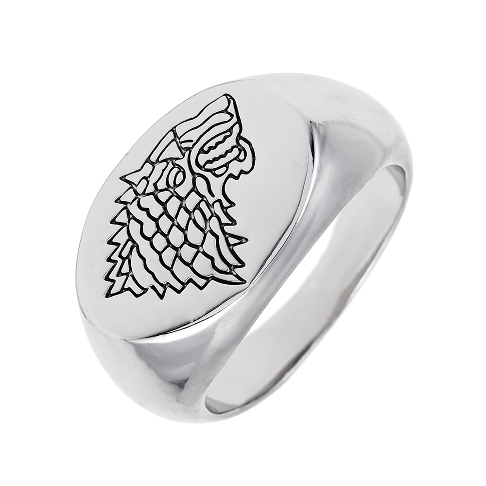 Lureme Inspired By Game Of Thrones Stark Dire Wolf Ring (rg001812)(china (