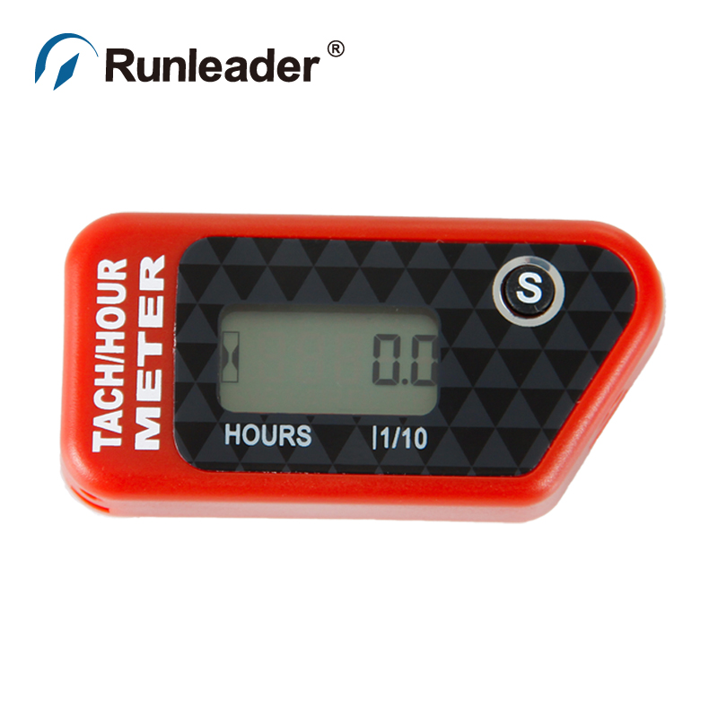 Runleader Tachometer Digital Hour Meter Tach Gauge RPM meter for jet ski chainsaw chipper marine paramotor boat pit bike