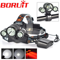 6000LM 3x XM-L T6 White+2R5 Red LED Headlamp Bike Bicycle Head Light Torch Headlight lampe frontale +AC Charger