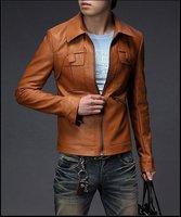 бесплатная доставка новых людей свободного покроя тонкий подходят пальто искусственная кожа куртки 2 цвет