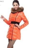 бесплатная доставка зима вкус очень большой меховой пуховик стоит ут перо женщин средней длины - длинный пуховик верхняя одежда