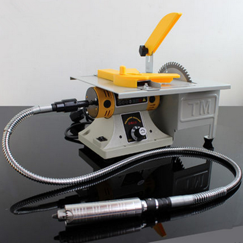 Mini Bench Grinder Buffing Polishing Machine Lathe Machine Electric Polisher Drill Saw Tool