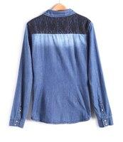 новинка печать женщин леди джинсы возглавляет печать с длинным рукавом футболка женщин джинсы одежды бесплатная доставка