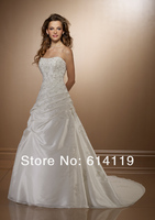 новый стиль мода свадебные платья линии без бретелек часовня аппликация из органзы свадебные платья