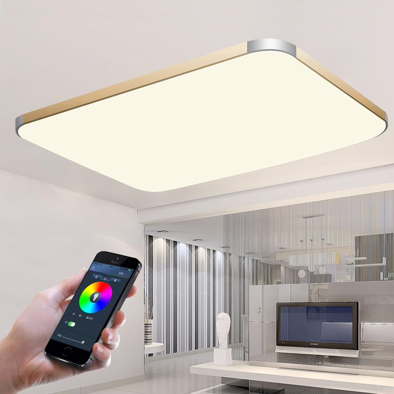 Rectangle Modern Led Ceiling Lights For Living Room Bedroom Home Dec AC85-265V Crystal Square Ceiling Lamp Fixture Free Shipping от Aliexpress INT