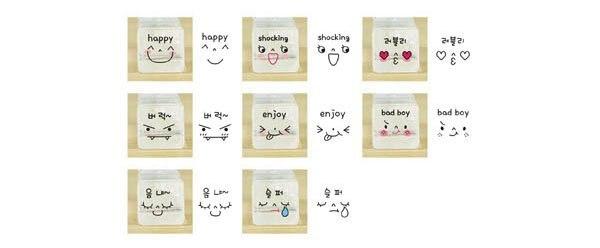 1 компл./лот, подарочный набор с эмоциями, набор забавных штампов для творчества, kawaii, канцелярские принадлежности для школы zakka(ss-299