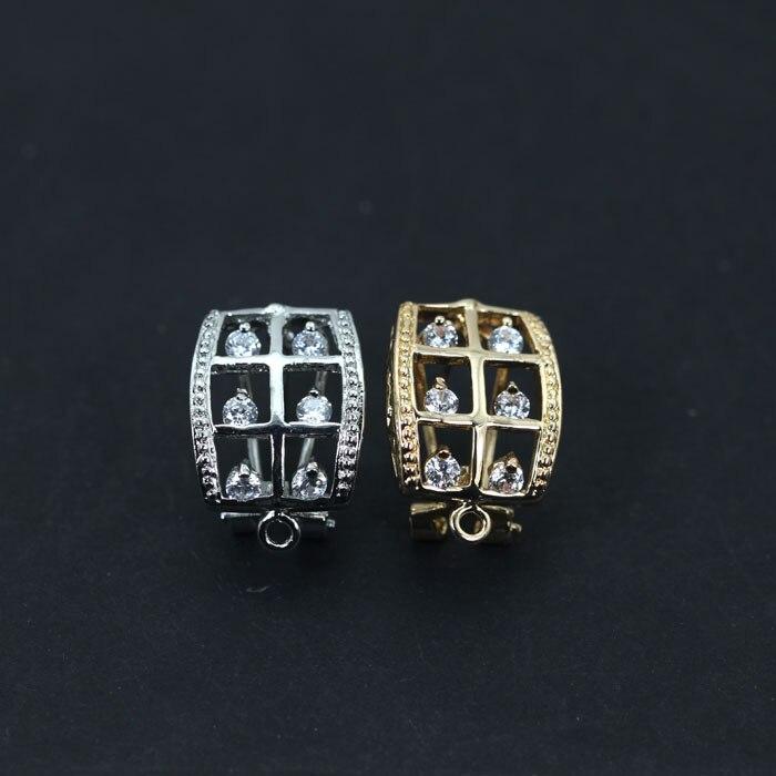 078511a1793e Al por mayor 50 par lote moda Pendientes la joyería de plata oro tono  Pendientes superior Bases DIY joyería libre et002