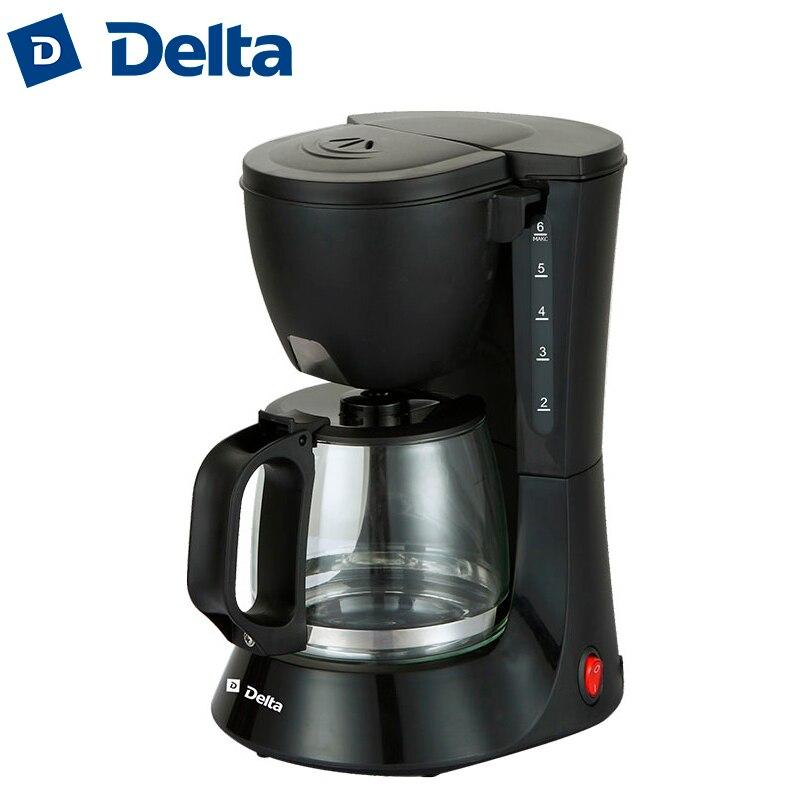 DL-8153 máquina de café por goteo, café hogar material de plástico americano, indicador de trabajo, 600 W, capacidad 6 tazas (0, 6L) DELTA