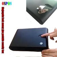 OSPON Fingerprint Safe Box Solid Steel Security Key Gun Valuables Jewelry Box Protable Security Biometric Fingerprint