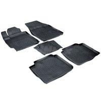 Резиновые коврики для Toyota Camry 40 (2006 2012) с высокими бортиками (Seintex 01089)