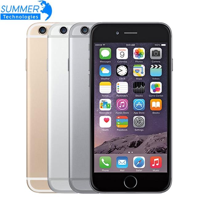 """Оригинальный Разблокирована Apple iPhone 6 Мобильный Телефон Dual Core 4.7 """"IPS 1 ГБ ОПЕРАТИВНОЙ ПАМЯТИ 16/64/128 ГБ ROM IOS 4 Г LTE Сотовые Телефоны"""