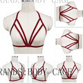 Bondage Lingerie Red cage bra,wedding body harness Crop Top Frame Goth Sexy Garter Belts Fetish Burlesque Erotic Pin-Up Lingerie