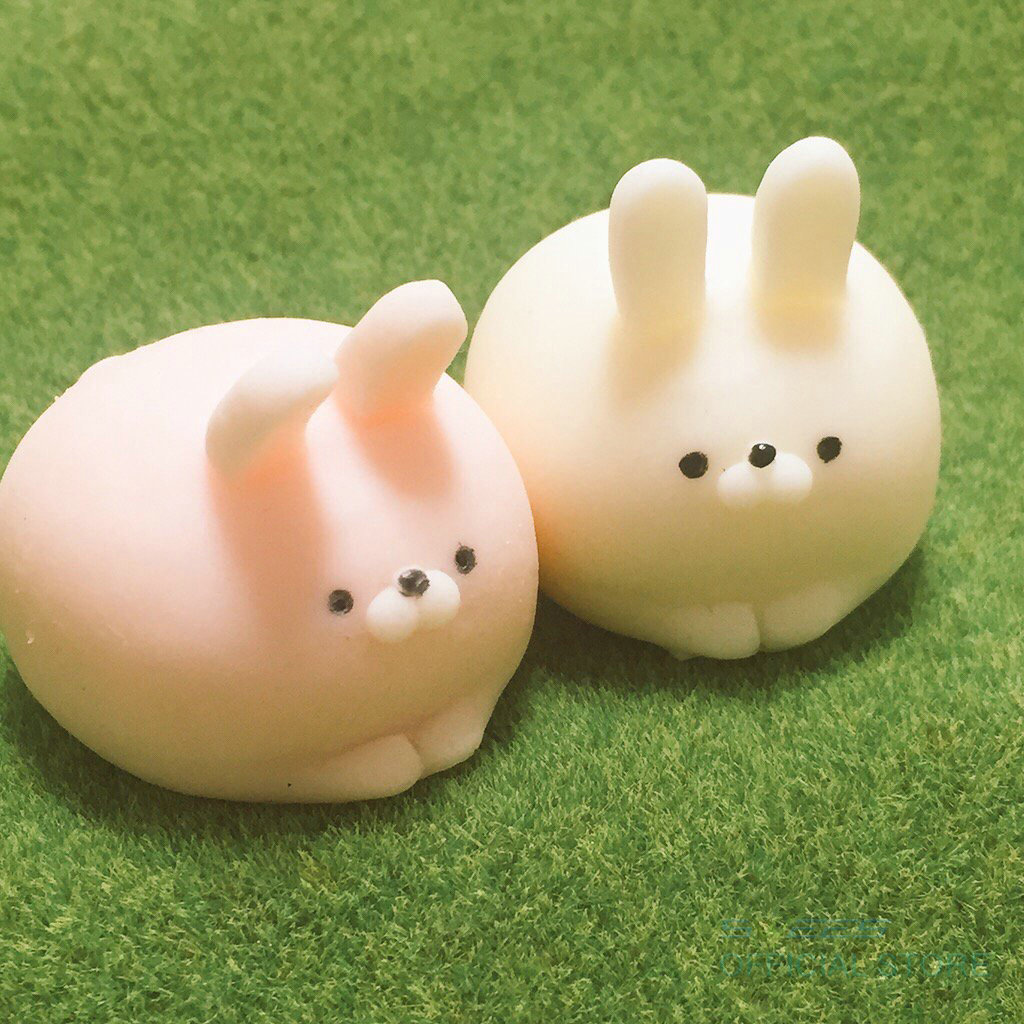Squishy Bunny : Rabbit Squishy Slow Rising Kawaii Mini Mochi Bunny Phone Strap Squeeze Stretchy Cute Pendant ...