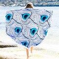 2016 Hot sale customized reactive printed Round Hippie Tapestry Beach Throw Roundie Mandala Towel  beach towel muffler scarves
