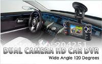 автомобильный нарушителя с двумя с час.264 видео кодек 2.7 ' экран 180 град. поворачивается линзы ф20 оптовая продажа бесплатная доставка