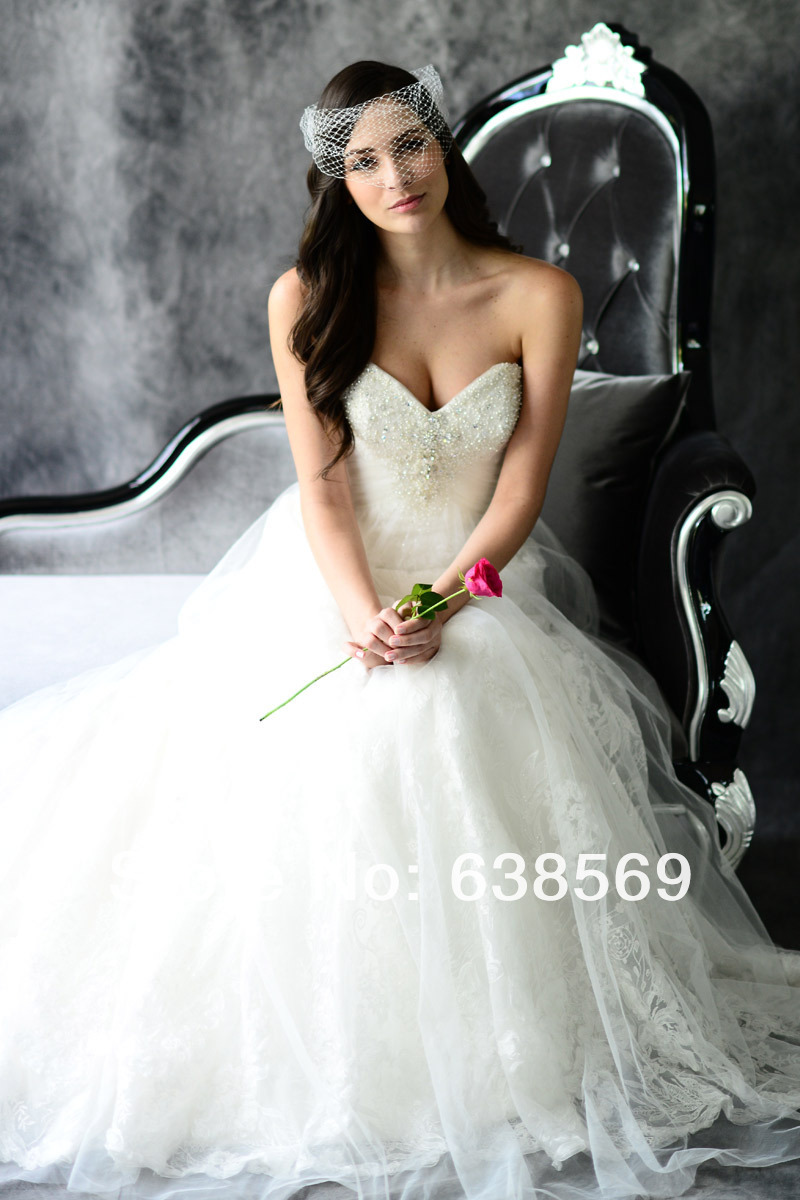 Empire Strapless Wedding Dress Full Skirt