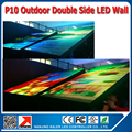 Customized outdoor p10 outdoor led display double side high brightness outdoor p10 led screen
