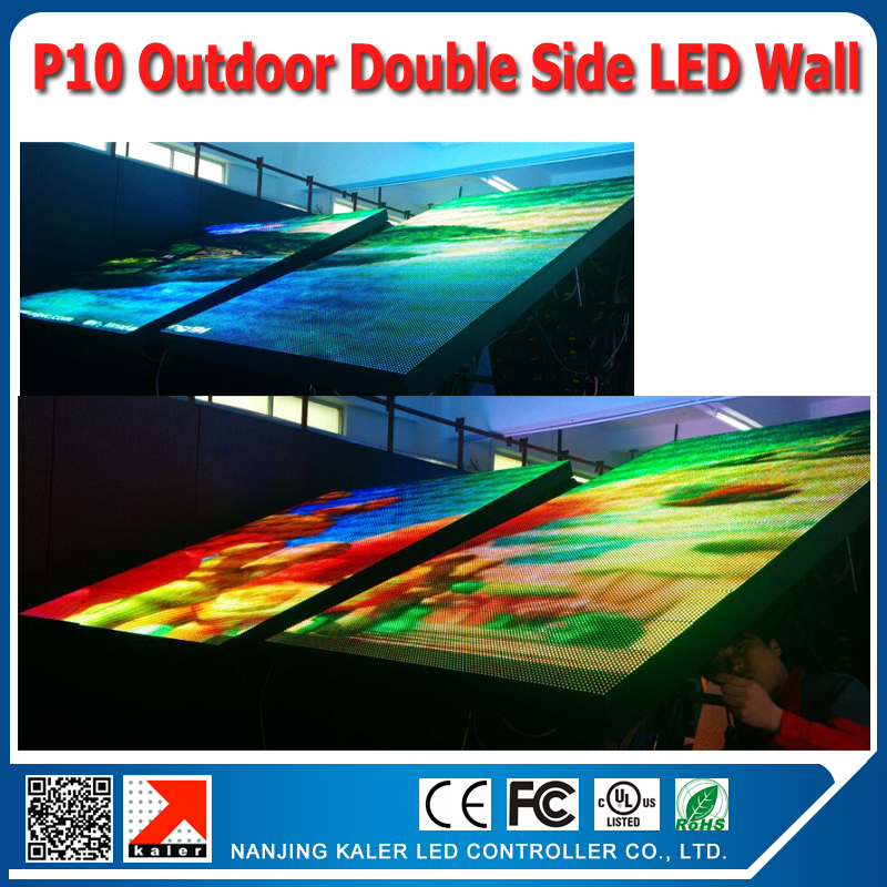 TEEHO Customized outdoor p10 outdoor led display double side high brightness outdoor p10 led screen USA Poland clientTEEHO Customized outdoor p10 outdoor led display double side high brightness outdoor p10 led screen USA Poland client