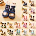 Bebé Niña Calcetines Antipatinaje Recién Nacido de Dibujos Animados Zapatos Zapatillas Botas