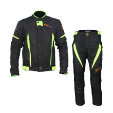 2016 Protective Gears Riding Tribe JK37 HP-08 Summer Sports Clothing Motorcycle Suit Jacket Motocross Pants Pantalon Moto Men