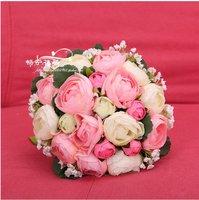 цветы оптовая продажа искусственные, свадебные свадебный букет, роуз энн, содействие цена, дома украшения, ремесло, подавляющее, подарок