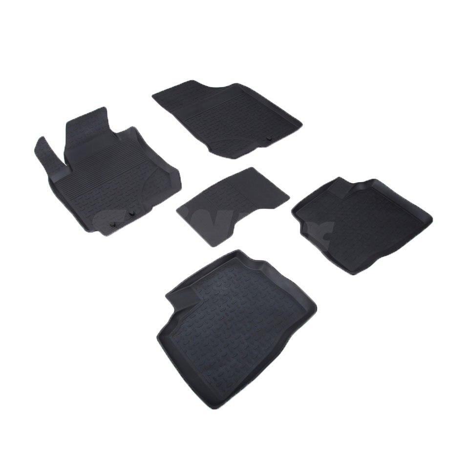 цена на Rubber floor mats for Hyundai i30 Hatchback 2009 2010 2011 2012 Seintex 71746