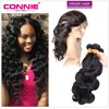Pre Plucked 360 Lace Frontal With Bundles Brazilian Body Wave Virgin Hair 7A Human Hair Wefts 360 Lace Band With Baby Hair