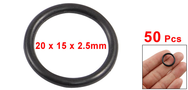 uxcell Round Rubber Oil Sealed O Ring Gasket Washer 20 Piece Black 14mm x 2.4mm