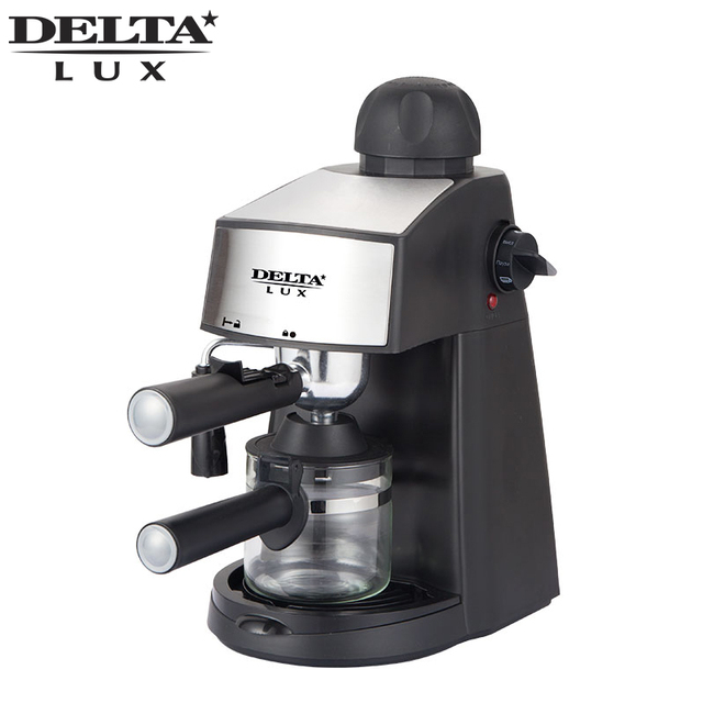 DL-8151K кофеварка рожковая, функция капучино, давление 5 бар. Вместимость 240мл, 800Вт. Съемный многоразовый фильтр из нержавеющей стали. Съемный моющийся поддон, шкала уровня воды.Световой индикатор.