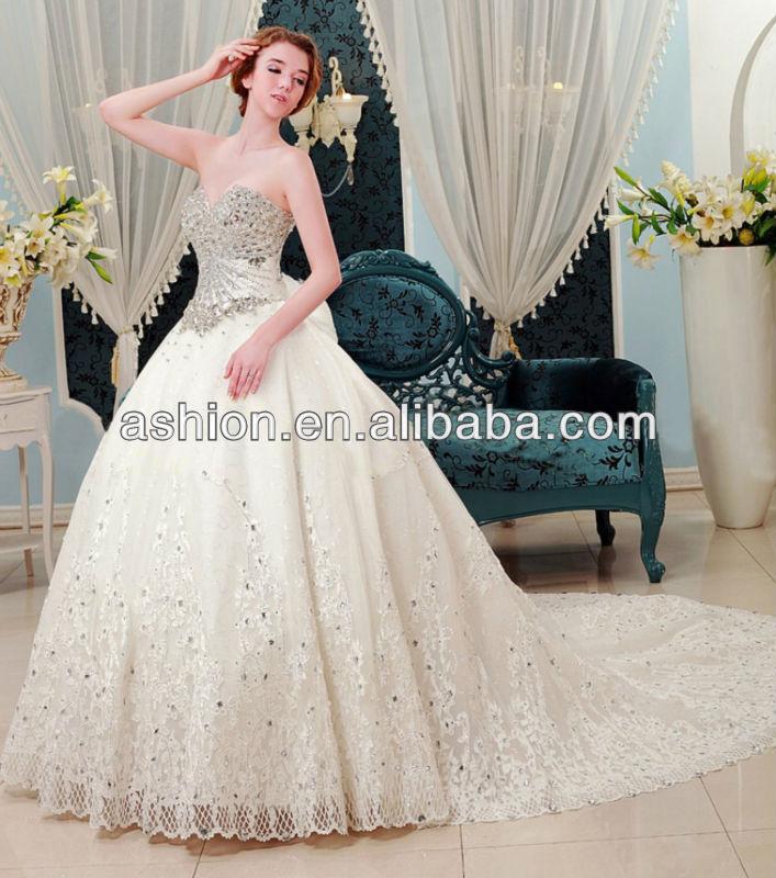 We 1867 Heavy Hand Work Expensive Designer Wedding Dress Gown In