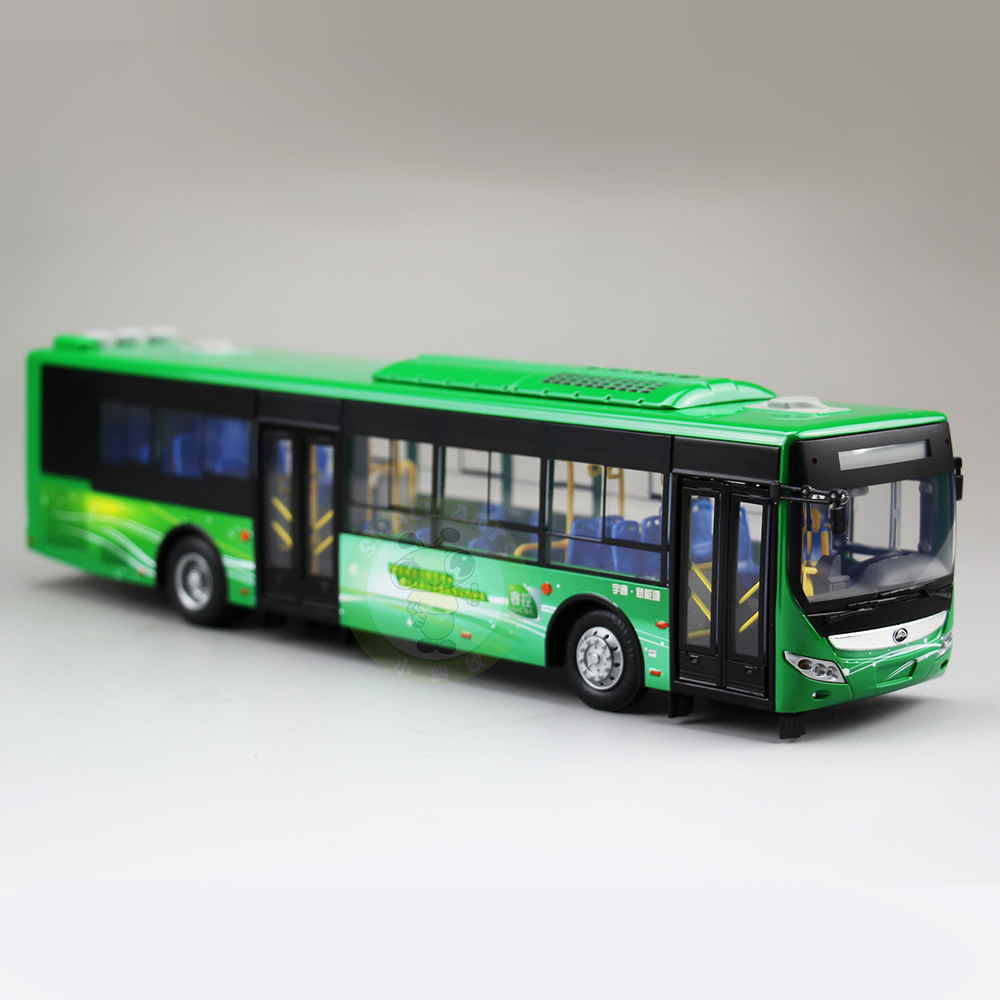 1:43 Scale China YuTong City Bus Coach Car Diecast Model Toys ZK6125CHEVPG4 1 43 ankai bus sightseeing tour of london bigbus big bus diecast model bus open top