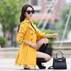 1 PC Trench płaszcz dla kobiet wiosna płaszcz podwójny breasted koronki Casaco feminino jesień Outerwear Abrigos mujer Z015