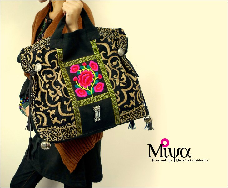 Original Design Thai Style Miya Embroidery Handbags Ethnic Embroidered Tote Shoulder Bags Boho Bag In Top Handle From Luggage On Aliexpress