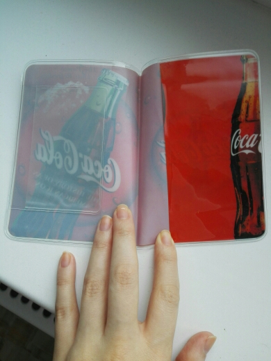 Coca Cola Santa Claus Leather Passport Holder Cover Case Blocking Travel Wallet
