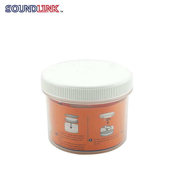 Free Shipping ! 32 pcs/lot Cheap Price See Through PP Clear Dry Jar For Hearing Aids