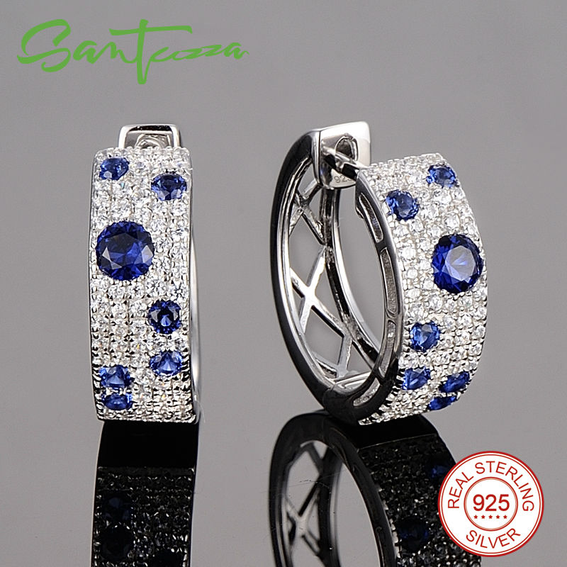 Silver Earrings-E306887BZZSL925-SV5
