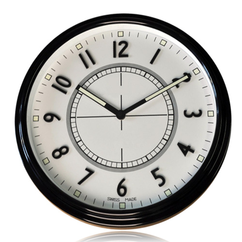 Breif Modern Design Black White Brand Wall Clock font b Watch b font Full Metal Housing