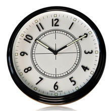 Breif Modern Design Black White Brand Wall Clock Watch Full Metal Housing Timepiece horloge murale