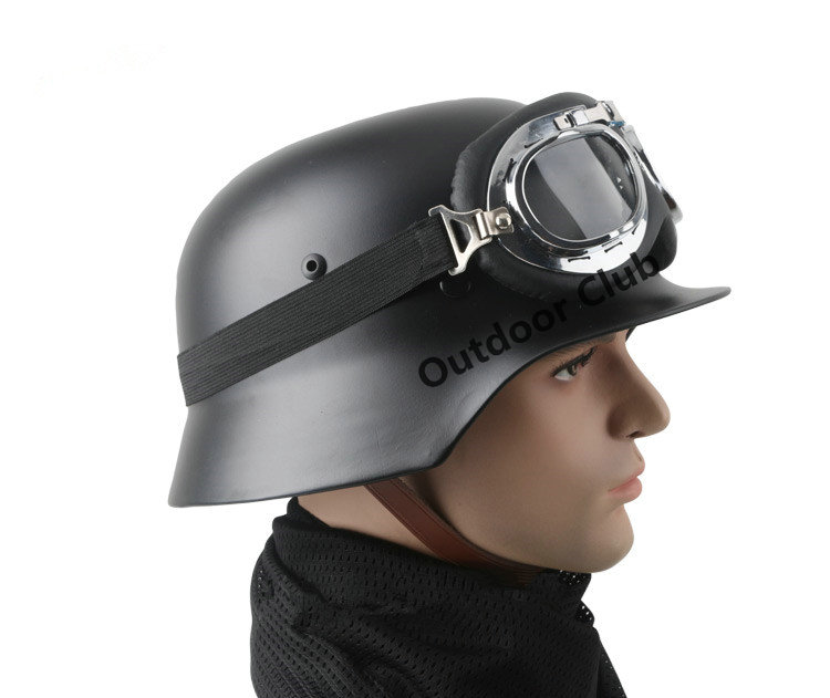 Фотография German M35 Helmet Luftwaffe Steel Helmet Black Tactical Helmet Airsoft Tactical Helmet