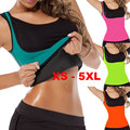 XS to 5XL Plus size waist corset sweat enhancing thermal sexy vest sweat waist cincher waist trainer hot shaper sauna shirt E87B