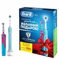 Набор электрических зубных щеток Family Pack (Oral-B PRO 500 и Oral-B Stages Power Frozen)