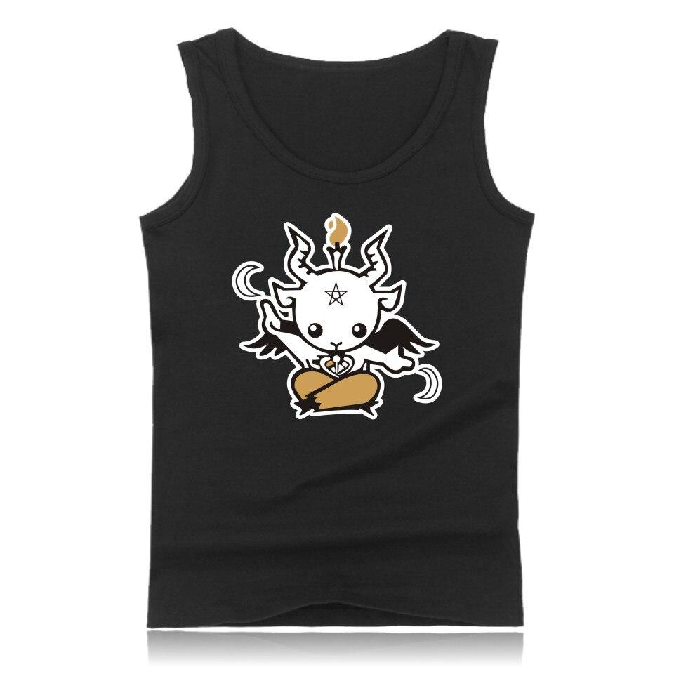 Satan Cartoon Casual Baumwolle Plus Größe Muscle Tank Tops Für Männer Sommer Westen Und Kühle Charakter Bodybuilding Tank Tops Männer