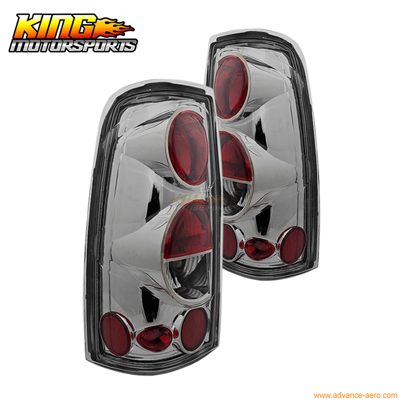 For 99-06 Chevrolet Silverado 99-03 GMC Sierra Altezza Tail Lights Chrome Clear USA Domestic Free Shipping for 04 10 nissan titan armada fog lights clear light lamps passenger driver usa domestic free shipping hot selling